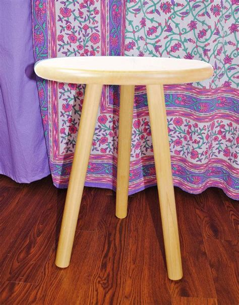 three legged wooden table diy three legged unfinished wooden side table stool in