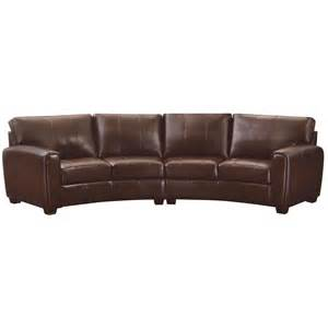 Leather Sofa Sectionals Coaster Furniture 503401 Cornell Bonded Leather Curved Sofa Sectional