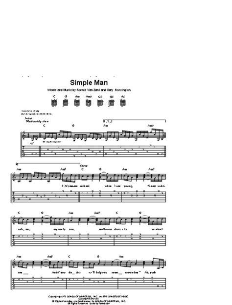 Lynyrd Skynyrd Simple Man Guitar Chords