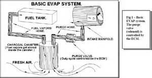 Fuel System Evaporator Emission Evap Canister Purge Volume Valve Circuit 2001