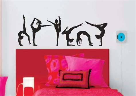 Sports Wall Decals For Nursery Custom Gymnastics Name Wall Decals Room Decor Nursery Wall Decals