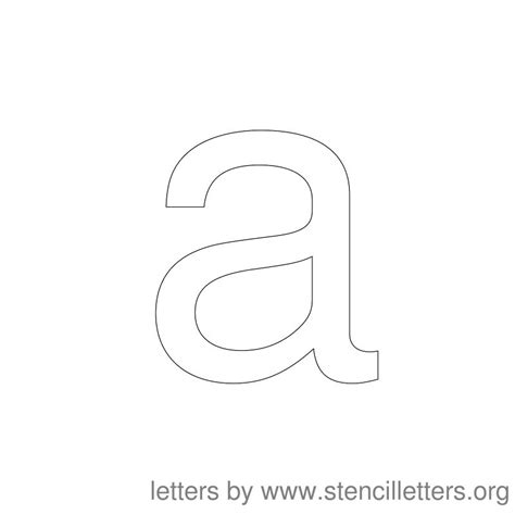 free printable lowercase letter stencils letter a stencil new calendar template site