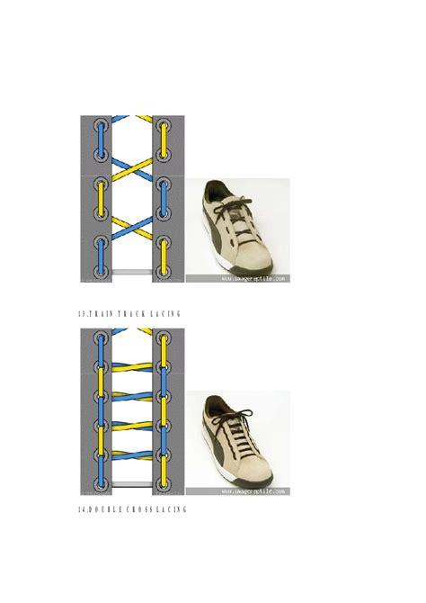 tutorial tali sepatu checkerboard cara mengikat tali sepatu