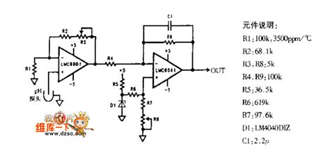 probe circuit diagram gt circuits gt ph meter probe lification circuit diagram