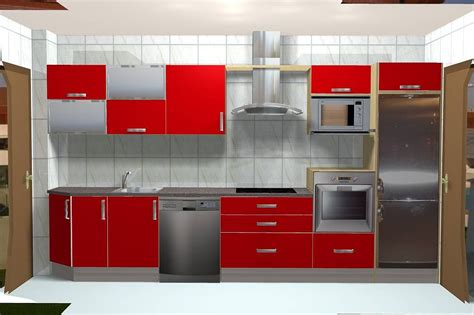 imagenes de cocinas integrales rojas cocina rojas decorar tu casa es facilisimo com