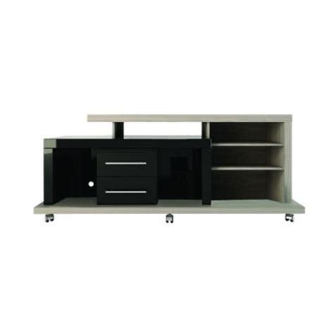 6 Shelf Tv Stand by Manhattan Comfort Empire 6 Shelf 2 Drawer Tv Stand In Nature White And Black Pro Touch 14424