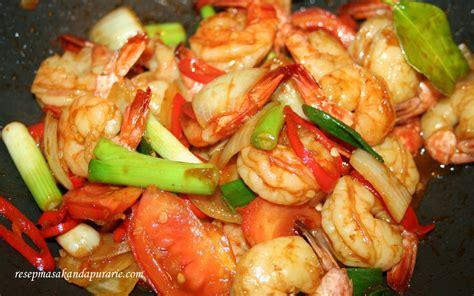 Buku Hidangan Makan Malam Sehat Enak resep cara membuat oseng udang manis pedas enak resep masakan dapur arie