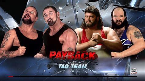 earthquake wwe tag team match butch luke vs typhoon earthquake wwe
