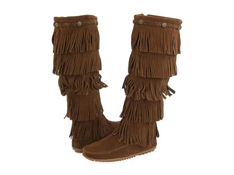 fridge boots minnetonka 5 layer fringe boot zappos free shipping