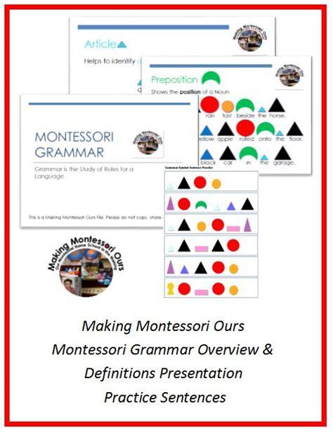 montessori grammar printable 69 best images about montessori grammar and farm on