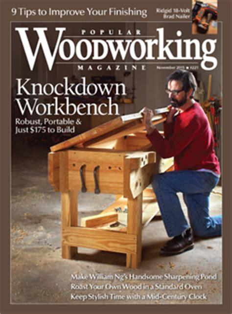 woodworking magazine index knockdown workbench popular woodworking magazine