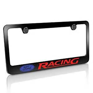 ford racing black metal license plate frame