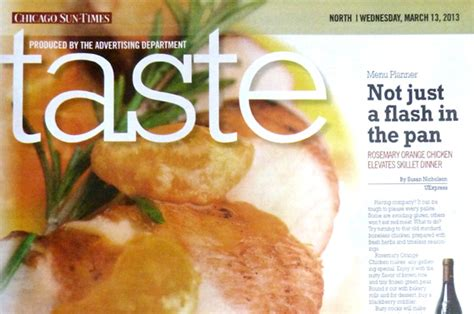 Tribune Taste Section by Sun Times Taste Section Debuts In Place Of Food Section Today
