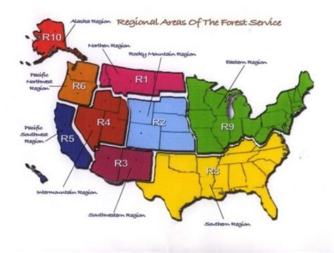 forest service region map regional areas of the forest service destinations