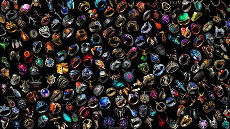 wallpaper all rings and amulets in poe wallpaper common
