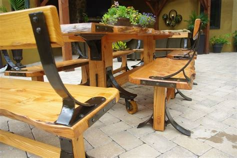 Harvest Dining Room Tables by Hand Crafted Live Edge Industrial Farmhouse Table With