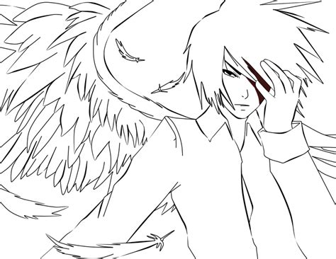 anime guy coloring pages vitlt com white anime angel lineart by thebl on deviantart