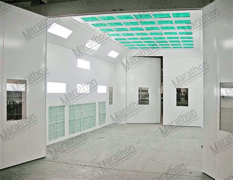 model car tech paint booth design click for larger view truck equipment spray paint booth side down draft