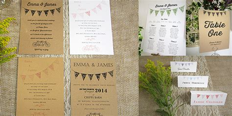summer fete wedding invitations summer bunting rustic fete wedding invitation