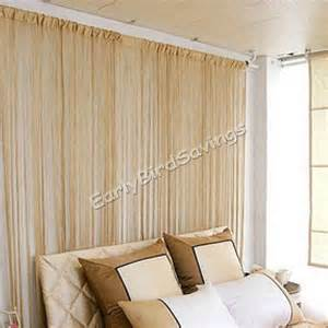 Panel Curtain Room Divider 3m X 3m Khaki Door Window Room Divider Panel String Curtain Drape Tassel Ebay