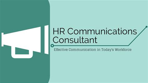 Communication Consultant by What Is A Hr Communications Consultant
