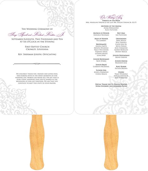 download free software wedding program paddle fan