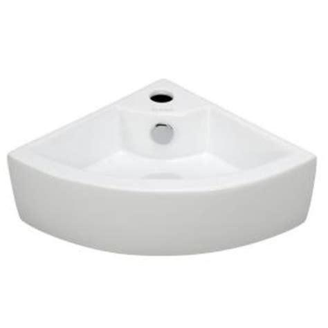 home depot corner sink elanti wall mounted corner bathroom sink in white ec9808