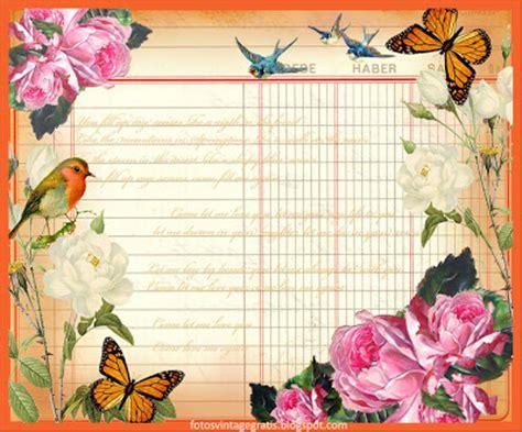 imagenes de laminas vintage collages vintage fondos vintage con flores
