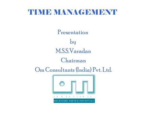 Mba Consulting India Pvt Ltd Okhla by Time Management 15 1 6 06