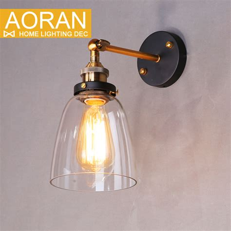 Glass Bedroom Wall Lights Vintage Wall Light Glass Wall L 110v 220v Bedroom Wall