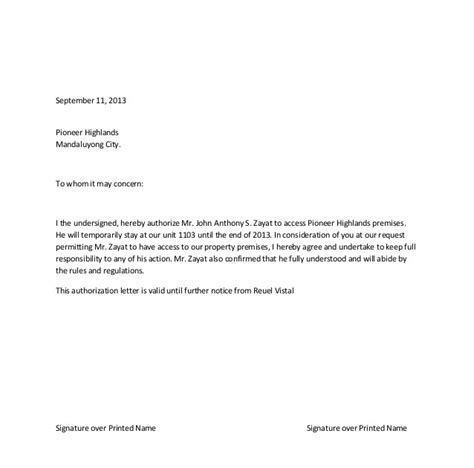 exle of authorization letter for representative metro map of authorization letter