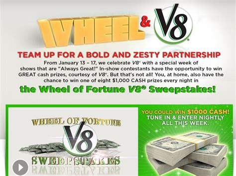 Wheel Of Fortune Sweepstakes Giveaway - wheel of fortune v8 sweepstakes sweepstakes fanatics