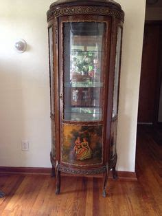 Painted Curio Cabinets For Sale Antique Curio Cabinet Painted W1338