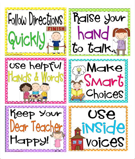 printable poster classroom rules printable preschool classroom rules book covers