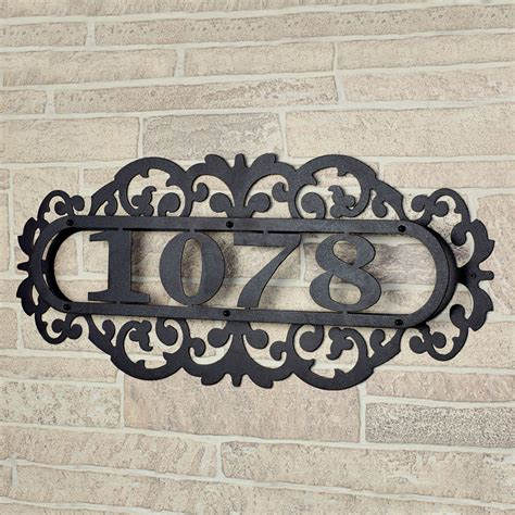 metal house numbers laroyal black metal house number address plaque