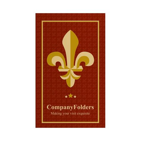 key card template folder template fleur de lis motel key card folder design