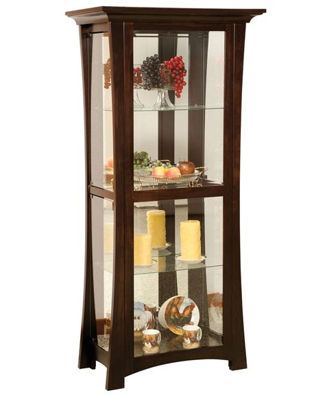 cabinet shelves sheridon 4 shelf curio cabinet amish direct furniture