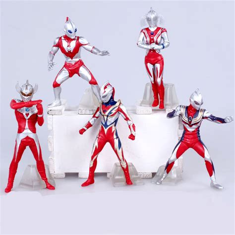 figure ultraman set isi 9 pcs ultraman tiga 8 edition figures 1 9 scale painted