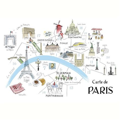 printable map ta alice tait map of paris print alice tait shop