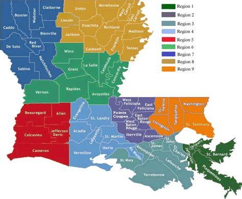 louisiana dma map state and parish maps of louisiana nlep louisiana
