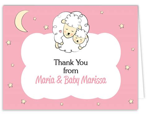 baby thank you card template photoshop thank you cards for baby shower ideas anouk