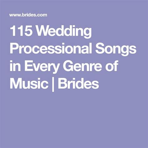 Wedding Song Genres by Best 25 Wedding Processional Songs Ideas On