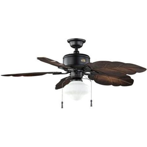 home depot outdoor ceiling fans with lights hton bay nassau 52 in iron indoor outdoor