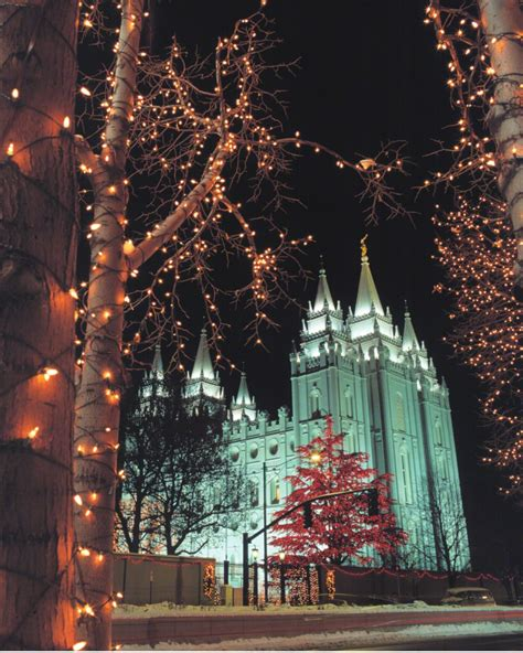 lights at temple square mormon about
