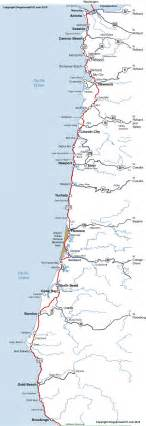 map of coastal cities oregon coast map