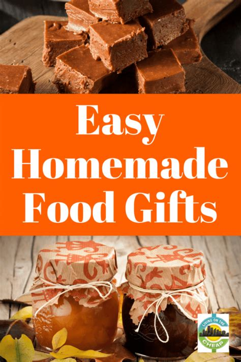 Handmade Food Gifts - easy recipes for food gifts living on the cheap