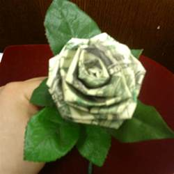 Origami Flower From Dollar Bill - origami dollar bill