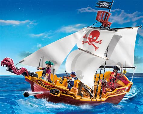 pirate boat playmobil 174 red serpent pirate ship toys games