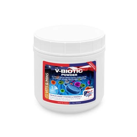 v supplements v biotic powder 908gm vitamins and minerals cortaflex