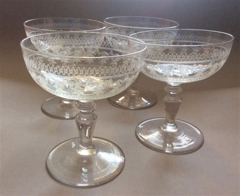 Coupe Wine Glasses A Set Of Four Edwardian Chagne Coupe Glasses 453877